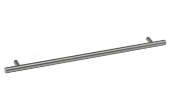 Solid Stainless Steel Cabinet Handles - Brushed, Round - Outdoor-Proof - 300mm