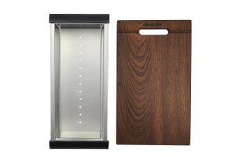 Dante / Dromma Sink Accessory Set - Chopping Board and Colander