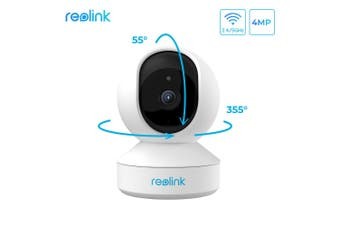 Reolink 4MP HD Plug-in WiFi Camera For Home Security Dual-Band WiFi Motion Alters Night Vision/E1 Pro