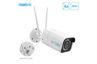 Reolink wifi camera 5MP Bullet 2.4G/5G 4x Optical Zoom Built-in Microphone SD Card Slot Night vision outdoor indoor use RLC-511W