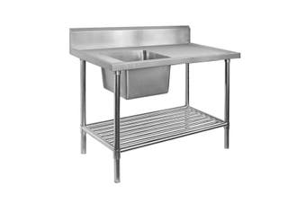 Economic 304 Grade SS Left Single Sink Bench with sink 1200-7-SSBL  Modular Systems