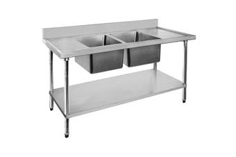 Modular Systems Double Sink Bench - Centre Sinks 2400x700x900