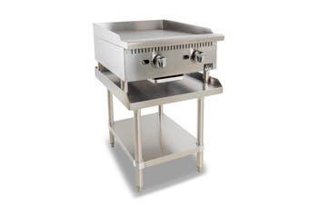 AG Twin Burner Commercial Flat Griddle/Hotplate  - 610MM WIDTH - Natural Gas  AG Equipment