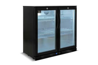 AG Twin Door Bar Fridge - Black Body & Doors  AG Equipment
