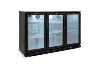 AG Three Door Bar Fridge - Black Body & Doors  AG Equipment