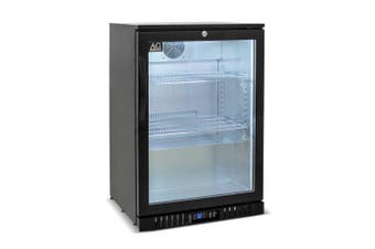 AG Single Door Bar Fridge - Black Body & Doors  AG Equipment