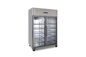 AG 1200 Litre Upright Double Glass Door Display Fridge  AG Equipment