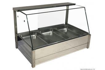 BM11TD Heated Wet 6 x ½ Pan Bain Marie Angled Countertop Display  Bonvue