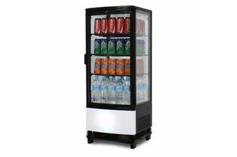 Bromic Countertop Beverage Fridge Curved Glass 98L LED CT0100G4BC