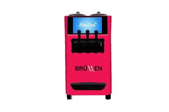 Brullen i26 Twin Twist Soft Serve Ice Cream & Frozen Yogurt Machine - Bright Pink