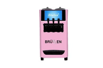 Brullen i26 Twin Twist Soft Serve Ice Cream & Frozen Yogurt Machine - Pink