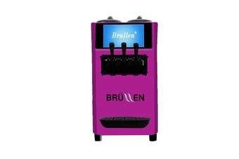 Brullen i26 Twin Twist Soft Serve Ice Cream & Frozen Yogurt Machine - Purple