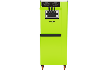 Brullen i95 Plus Gravity - Bright Green - Three Flavour Floor Standing Ice Cream Machine