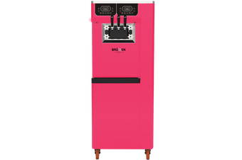 Brullen i95 Plus Gravity - Bright Pink - Three Flavour Floor Standing Ice Cream Machine