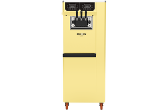 Brullen i95 Plus Gravity - Yellow - Three Flavour Floor Standing Ice Cream Machine