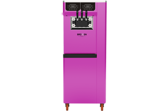Brullen i95 Plus Pump - Three Flavour Floor Standing Ice Cream Machine - Purple