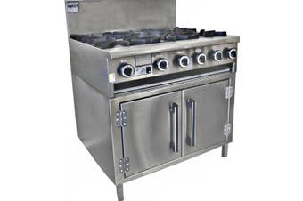 Complete Commercial Cha Siew Oven Ranges - 4 burner with 300mm Grill Plate  Complete Commercial Equipment