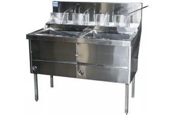 Complete Commercial WFS-4/18 High Capacity Deep Fryer - 2210mm  Complete Commercial Equipment