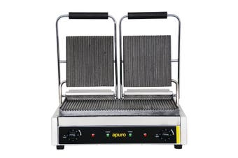 Apuro Bistro Double Contact Grill Ribbed Plates