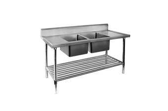 Double Centre Sink Bench with Pot Undershelf DSB7-2400C/A  Modular Systems