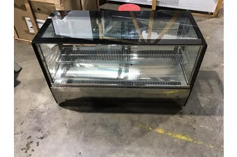 Bonvue GN-1200RT Counter Top Square 2 Shelves Glass Cold Food Display Size 1200mm  F.E.D