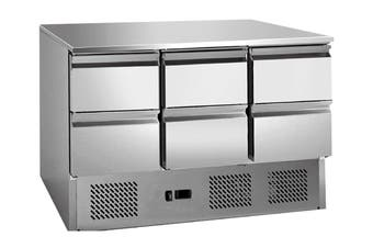 6 drawers S/S benchtop fridge - GNS1300-6D  Thermaster