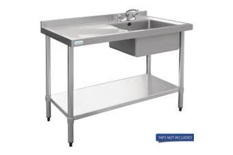 Vogue Single Bowl Sink L/H Drainer - 1000mm x 700mm 90mm Drain