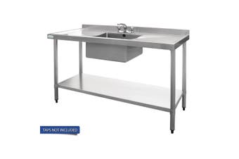 Vogue Single Bowl Sink Double Drainer - 1500mm x 700mm 90mm Drain