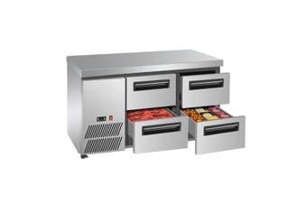 LBC125 Four drawer Lowboy Fridge  Thermaster
