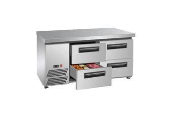 Four large drawer Lowboy Fridge LBC150  Thermaster