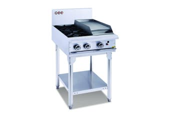 LKK 2 Gas Open Burner Cooktop + 300Mm Right Griddle With Legs
