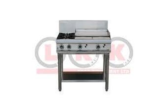 LKK 2 Gas Open Burner Cooktop + 600Mm Gas Griddle With Legs