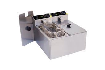 Apuro Twin Tank Twin Basket Countertop Electric Fryer 2 x 2kW