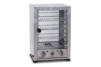 Roband Pie and Food Warmer Hinged Glass Door with Internal Light - 25 Pies