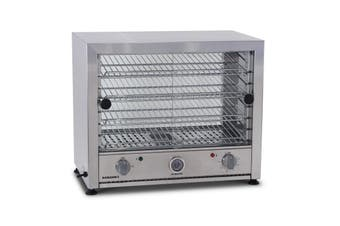 Roband Pie and Food Warmer Hinged Glass Door with Internal Light - 50 Pies
