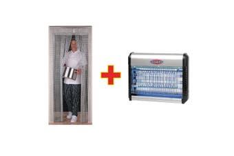 Eazyzap Chain Door Flyscreen & Flykiller Combo