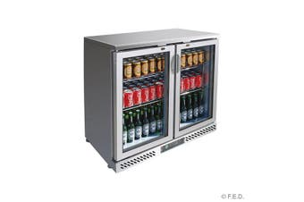 SC248SG Two Door Stainless Steel Bar Cooler  Thermaster