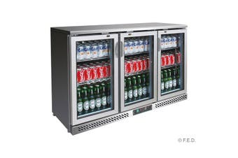 SC316SG Three Door Stainless Steel Bar Cooler  Thermaster