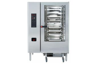 Eloma 20 X 2/1Gn Gas Combi Oven With Electronic Controls, Heat Recovery And Right Hand Hinged Door