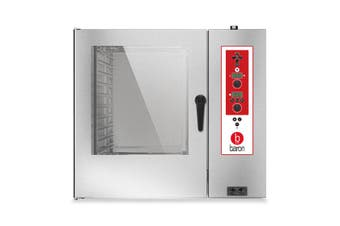 Baron 10 X 2/1Gn Gas Direct Steam Combi Oven With Electronic Controls
