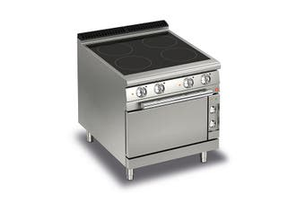 Baron 4 Burner Electric Cook Top With Ceramic Glass And Electric Oven - 700Mm Depth