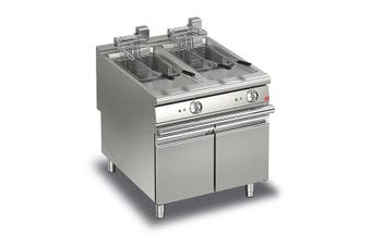 Baron 20+20L Double Basin Electric Deep Fryer