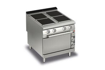 Baron 4 Burner Electric Cook Top With Electric Oven - 900Mm Depth
