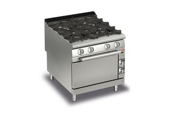 Baron 4 Burner Gas Cook Top With Gas Oven - 900Mm Depth
