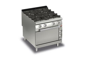Baron 4 Burner Gas Cook Top With Electric Oven - 900Mm Depth