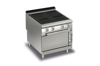 Baron 4 Burner Electric Cook Top With Ceramic Glass And Electric Oven - 900Mm Depth