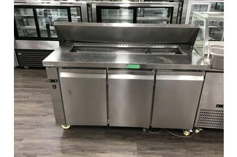 S/S salad bench fridge with S/S lid 1500X750X1080  Modular Systems