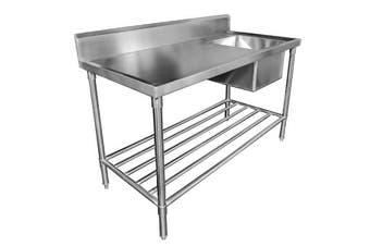 MixRite Sink Bench with Splashback 1500 x 700 x 900 mm SS1715R