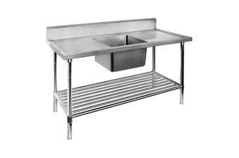 Single Centre Sink Bench & Pot Undershelf SSB7-1200C/A  Modular Systems