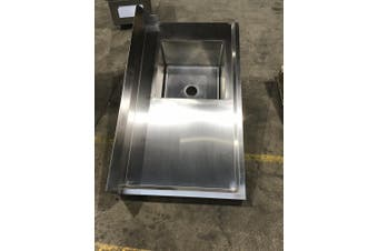 Right Inlet Single Sink Dishwasher Bench 1200mmWx700D Modular Systems